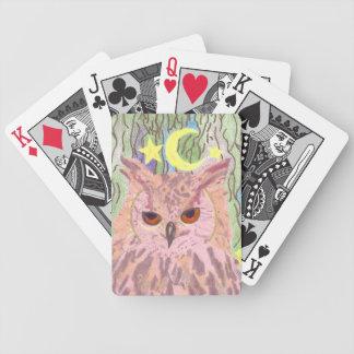 Drottning av för natt för ugglacykel flickaktigt spelkort
