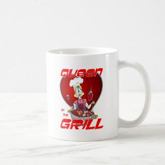 Drottning av Grilla-Viten Kaffemugg