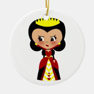Drottning av hjärtor - Alices äventyr i underland Julgransprydnad Keramik