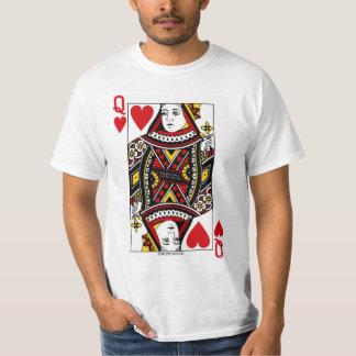 Drottning av hjärtor som leker kortet t shirt