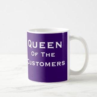 Drottning av namn för kvinna för kundSalechef det Kaffemugg