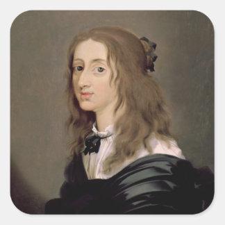 Drottning Christina av sverigen 1652 Fyrkantigt Klistermärke