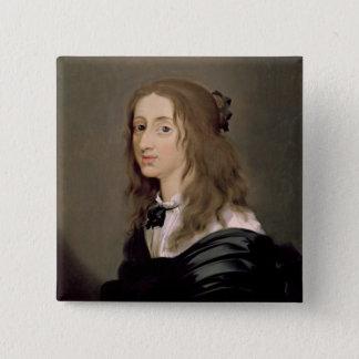 Drottning Christina av sverigen 1652 Standard Kanpp Fyrkantig 5.1 Cm