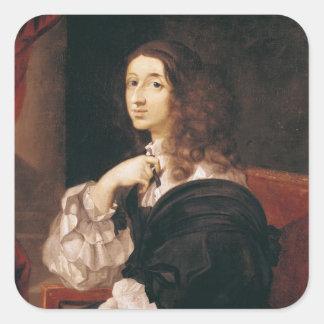 Drottning Christina av sverigen Fyrkantigt Klistermärke