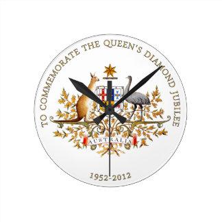 Drottning diamantjubileum - Australien Rund Klocka