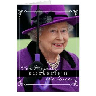 Drottning Elizabeth av England Hälsningskort