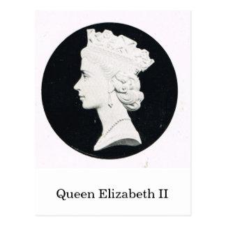 Drottning Elizabeth II, lättnadsporträtt Vykort