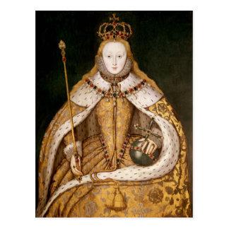 Drottning Elizabeth mig i Coronationskrud Vykort