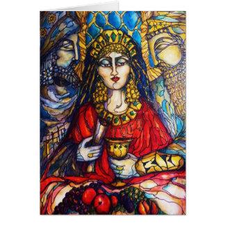 Drottning Esther Hälsningskort