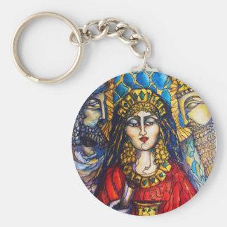 Drottning Esther Rund Nyckelring