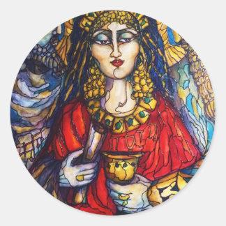 Drottning Esther Runt Klistermärke