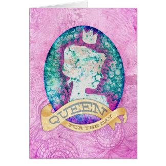 Drottning för dagfödelsedagen hälsningskort