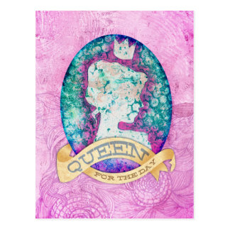 Drottning för dagfödelsedagen vykort