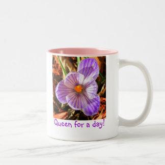 Drottning för en dagkaffemugg Två-Tonad mugg