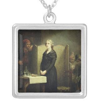 Drottning Marie Antoinette i Conciergerien Silverpläterat Halsband