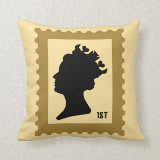 Drottning- och kronafrimärke kudde