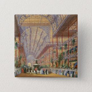 Drottning Victoria som öppnar utställningen 1862 e Standard Kanpp Fyrkantig 5.1 Cm