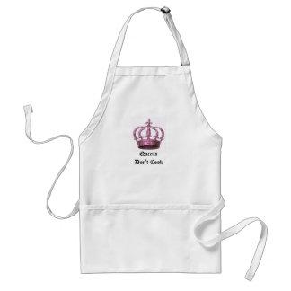 Drottningar lagar mat inte förklädet förkläde