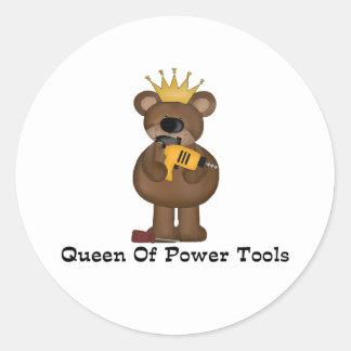 Drottningen av driver verktyg runt klistermärke