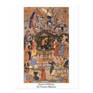 Drottningen av Sheba av perser styr Vykort