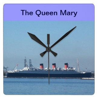 Drottningen Mary i den Long Beach, Kalifornien Fyrkantig Klocka