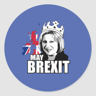 DrottningTheresa maj Brexit - - Runt Klistermärke