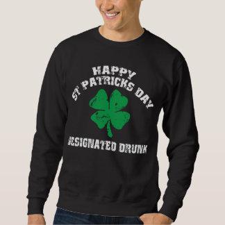 Drucken irländare som designeras sweatshirt