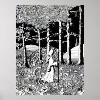 Druidsna går - affischtrycket poster