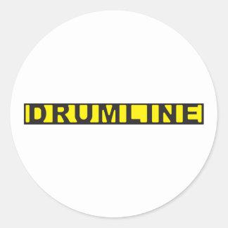 Drumline tejpar den brotts- platsen rund klistermärke
