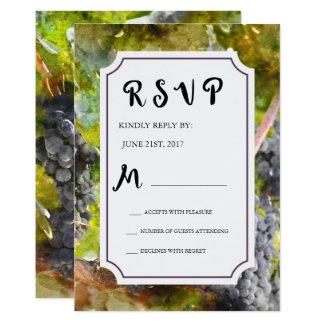 Druva- och vingårdvattenfärgbröllop OSA 12,7 X 17,8 Cm Inbjudningskort