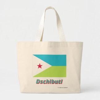 Dschibuti Flagge mit Namen Tygkassar