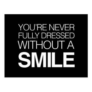 Du aldrig kläs fullständigt utan ett leende vykort