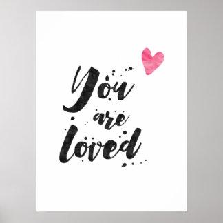 Du älskas - den inspirera affischen poster
