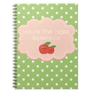 Du är chefen, applesauce! anteckningsbok