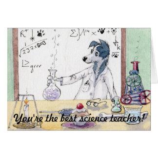 Du är den bäst vetenskapslärare - tackKORT Hälsnings Kort