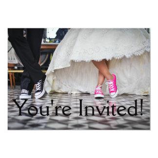 Du är den inbjudna roliga bröllopinbjudan 12,7 x 17,8 cm inbjudningskort