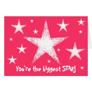 Du är den största STJÄRNAN! | rosor Hälsningskort
