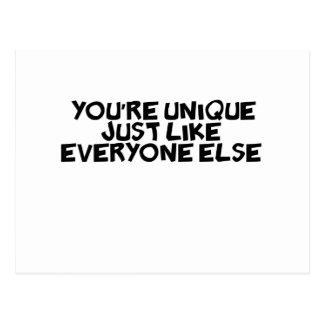 du är den unika precis något liknande alla annars vykort