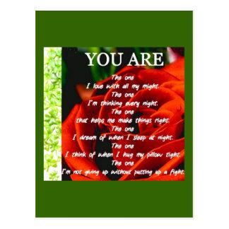 Du är den vykort