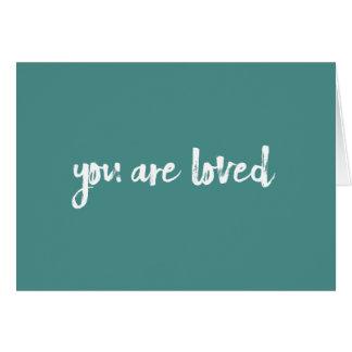 Du är det älskade krickan handlettered kortet hälsningskort