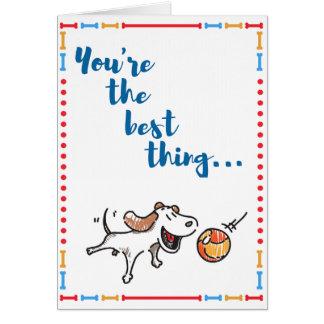 Du är det bäst! Roliga hundkortnågot att säga allt OBS Kort