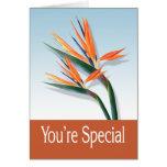 Du är det speciella hälsningkortet kort
