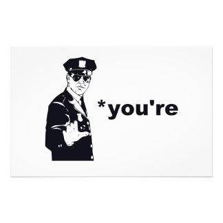 Du är din grammatikpolis brevpapper