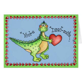 Du är Dino-kvalsteren - hälsningkort Hälsningskort