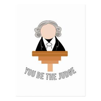 Du är domaren vykort