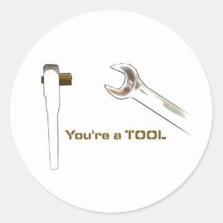 Du är en tool2 runt klistermärke
