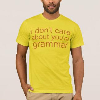du är grammatik tshirts