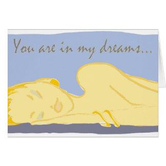 Du är i min drömmar. hälsningskort
