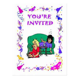 Du är inbjuden, möhippa vykort