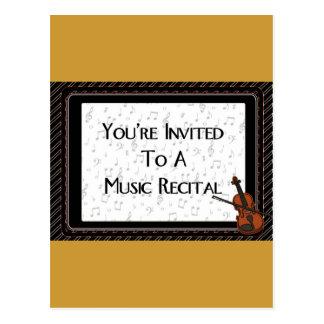 Du är inbjuden till en musikhögläsning vykort
